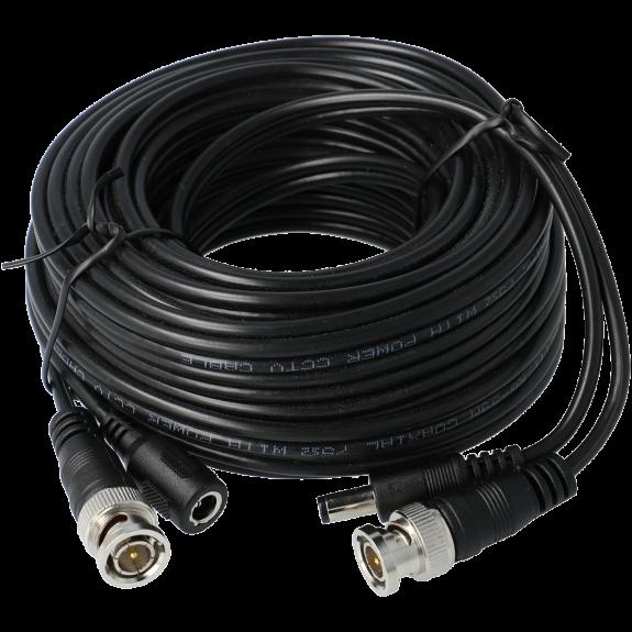 Cable A-CCTV combinado coaxial / alimentación de 10 m