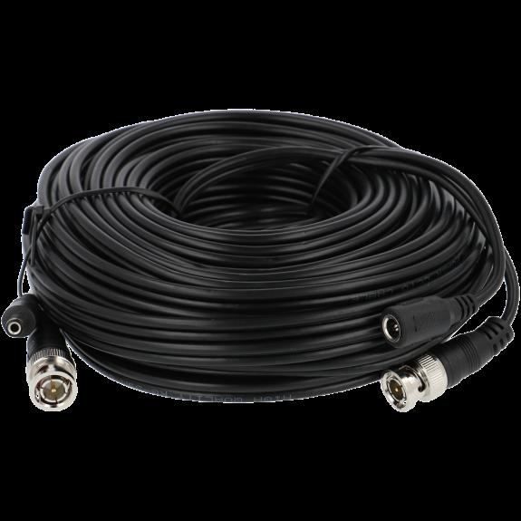 Cable A-CCTV combinado coaxial / alimentación de 20 m