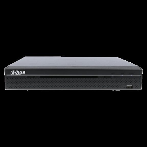 Grabador 5 en 1 (hd-cvi, hd-tvi, ahd, analógico y ip) DAHUA de 4 canales y 1 mpx de resolución máxima