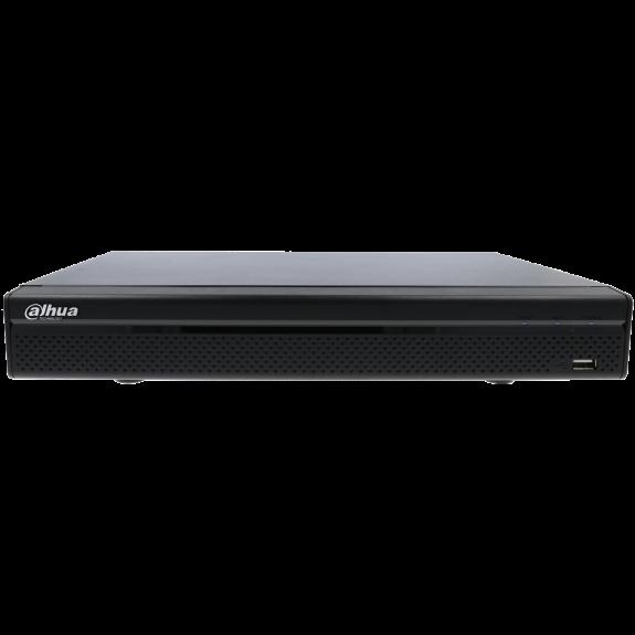 Grabador 5 en 1 (hd-cvi, hd-tvi, ahd, analógico y ip) DAHUA de 16 canales y 2 mpx de resolución máxima
