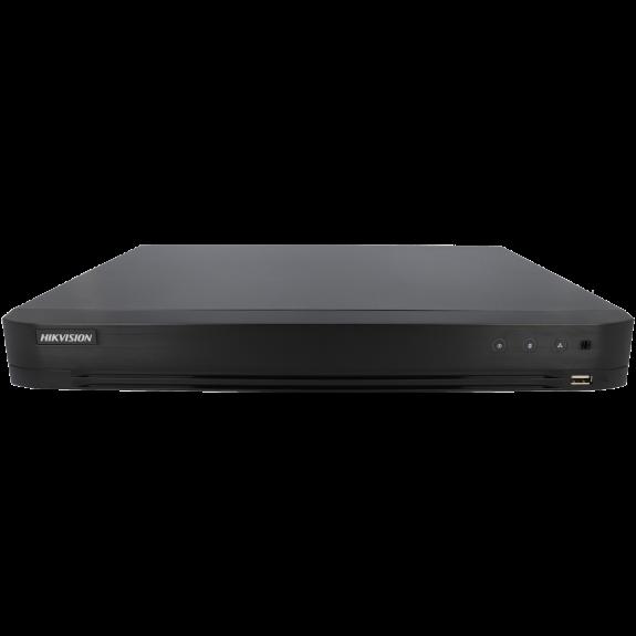 Grabador 5 en 1 (hd-cvi, hd-tvi, ahd, analógico y ip) HIKVISION PRO de 16 canales y 8 mpx de resolución máxima