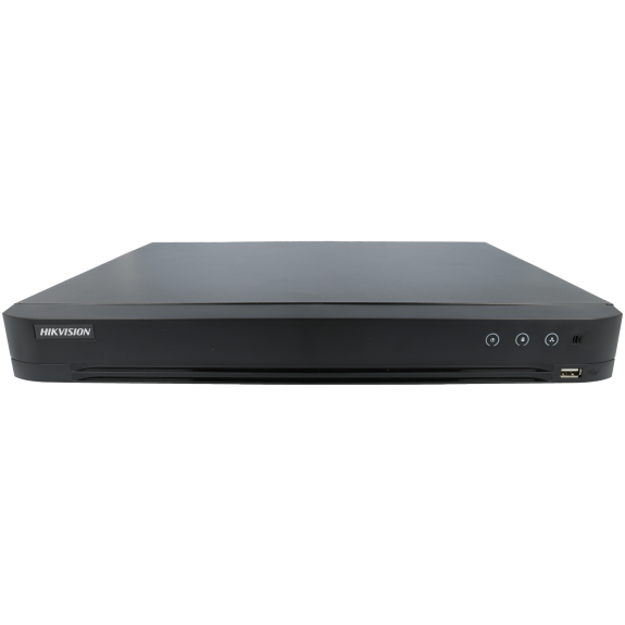 Grabador 5 en 1 (hd-cvi, hd-tvi, ahd, analógico y ip) HIKVISION PRO de 8 canales y 8 mpx de resolución máxima