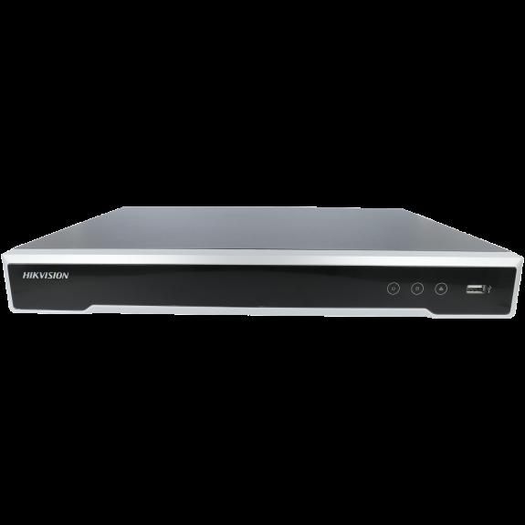 Grabador ip HIKVISION PRO de 16 canales y 8 mpx de resolución con 16 puertos PoE