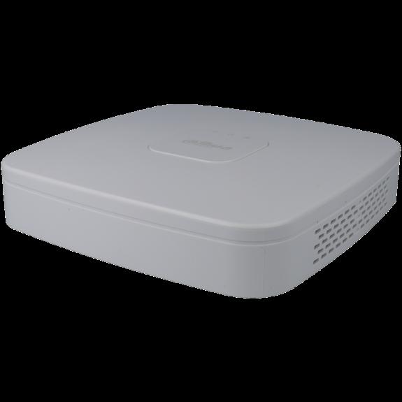 Grabador ip DAHUA de 4 canales y 8 mpx de resolución con 4 puertos PoE