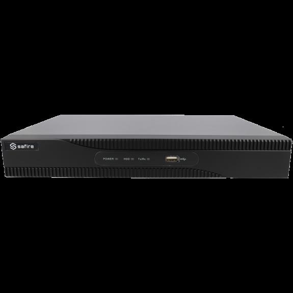 Grabador ip SAFIRE de 8 canales y 8 mpx de resolución