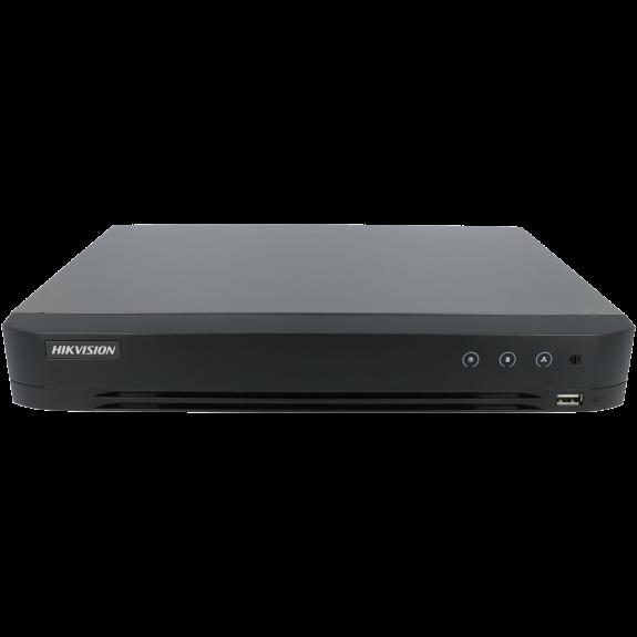 Grabador 5 en 1 (hd-cvi, hd-tvi, ahd, analógico y ip) HIKVISION PRO de 16 canales y 4 mpx lite de resolución máxima