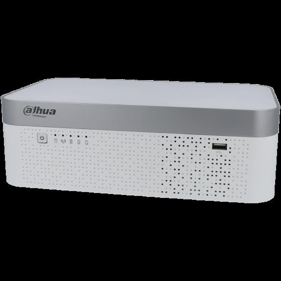 Grabador 5 en 1 (hd-cvi, hd-tvi, ahd, analógico y ip) DAHUA de 4 canales y 8 mpx de resolución máxima