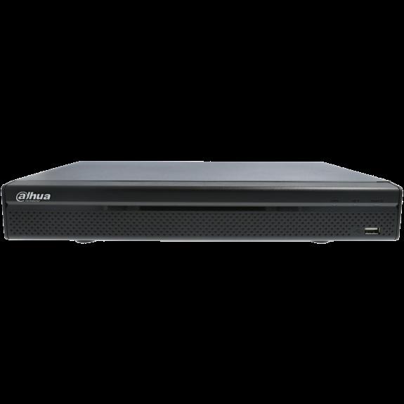 Grabador 5 en 1 (hd-cvi, hd-tvi, ahd, analógico y ip) DAHUA de 8 canales y 5 mpx de resolución máxima