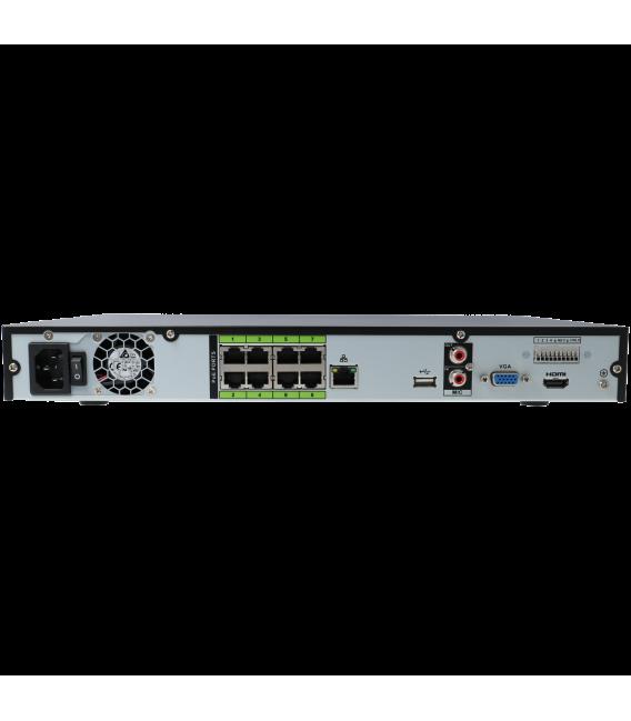 Grabador ip DAHUA de  canales y 12 mpx de resolución con 4 puertos PoE