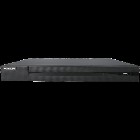 Grabador ip HIKVISION de 8 canales y 8 mpx de resolución con 8 puertos PoE