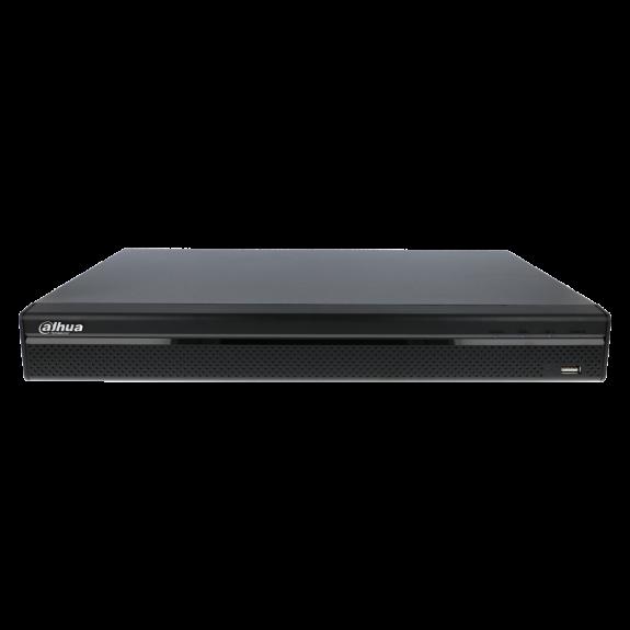 Grabador ip DAHUA de 16 canales y 8 mpx de resolución con 16 puertos PoE