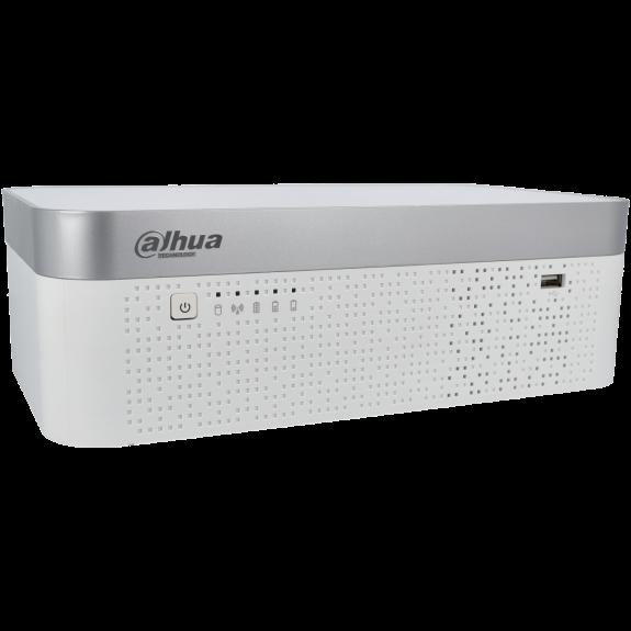 Grabador 5 en 1 (hd-cvi, hd-tvi, ahd, analógico y ip) DAHUA de 8 canales y 8 mpx de resolución máxima