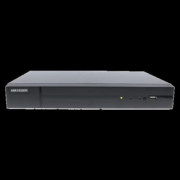 Grabador ip HIKVISION de 4 canales y 8 mpx de resolución con 4 puertos PoE