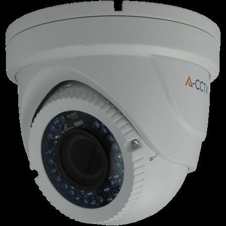 Cámara A-CCTV minidomo 4 en 1 (cvi, tvi, ahd y analógico) de 2 megapíxeles y óptica varifocal