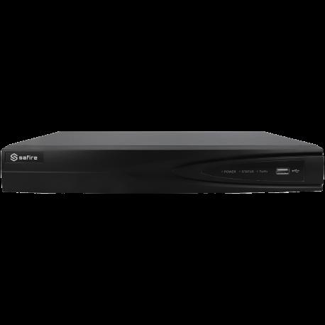 Grabador 5 en 1 (hd-cvi, hd-tvi, ahd, analógico y ip) SAFIRE de 4 canales y 4 mpx lite de resolución máxima