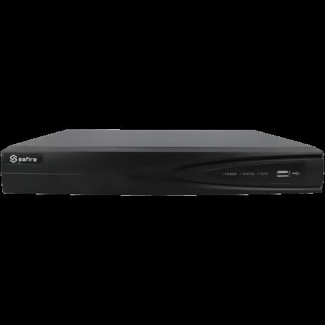 Grabador 5 en 1 (hd-cvi, hd-tvi, ahd, analógico y ip) SAFIRE de 8 canales y 4 mpx lite de resolución máxima
