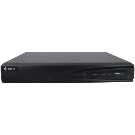 Grabador 5 en 1 (hd-cvi, hd-tvi, ahd, analógico y ip) SAFIRE de 16 canales y 4 mpx de resolución máxima