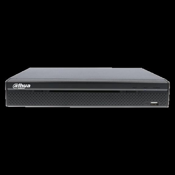 Grabador 5 en 1 (hd-cvi, hd-tvi, ahd, analógico y ip) DAHUA de 16 canales y 1 mpx de resolución máxima