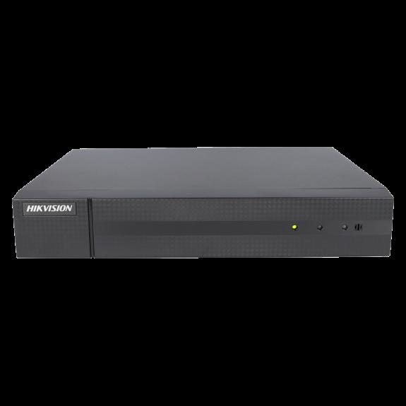 Grabador 5 en 1 (hd-cvi, hd-tvi, ahd, analógico y ip) HIKVISION de 4 canales y 5 mpx de resolución máxima