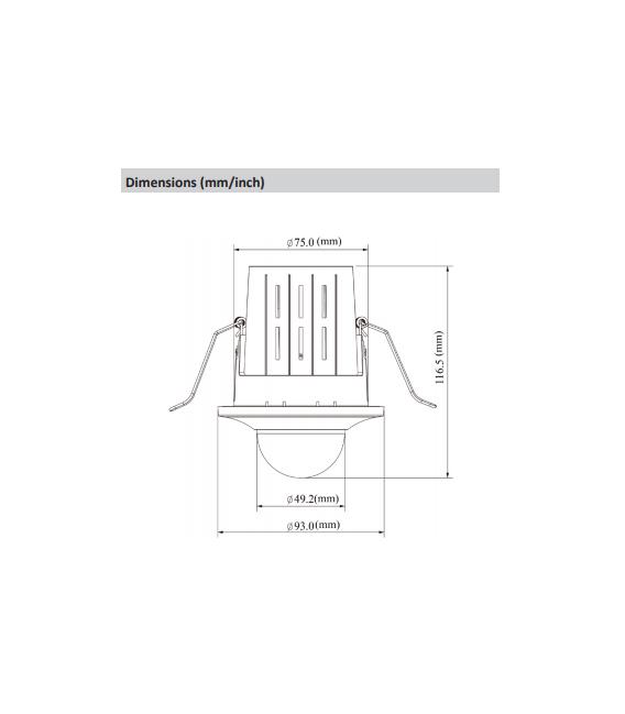 Cámara DAHUA minidomo ip de 4 megapíxeles y óptica fija