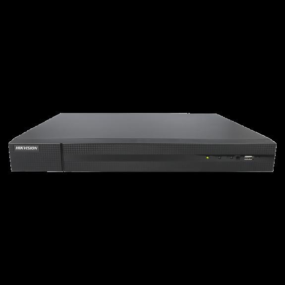 Grabador 5 en 1 (hd-cvi, hd-tvi, ahd, analógico y ip) HIKVISION de 32 canales y 4 mpx de resolución máxima