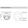 Cámara DAHUA minidomo 4 en 1 (cvi, tvi, ahd y analógico) de 8 megapíxeles y óptica fija