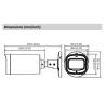 Cámara DAHUA bullet hd-cvi de 8 megapíxeles y óptica varifocal