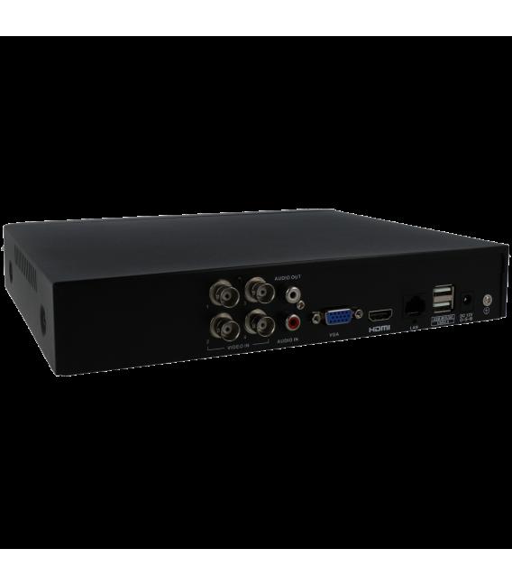 Grabador 5 en 1 (hd-cvi, hd-tvi, ahd, analógico y ip) UNIARCH de 4 canales y  de resolución máxima