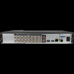 Grabador 5 en 1 (hd-cvi, hd-tvi, ahd, analógico y ip) DAHUA de 16 canales y 8 mpx de resolución máxima