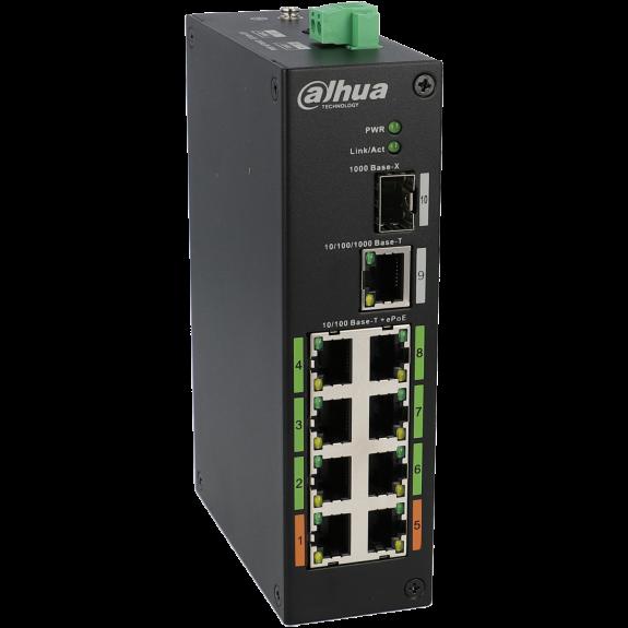 Switch DAHUA 10 puertos con 8 puertos PoE